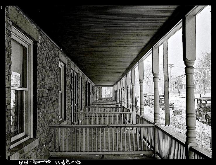 Bound Brook, N.J., Feb. 1936, porches, via Library of Congress