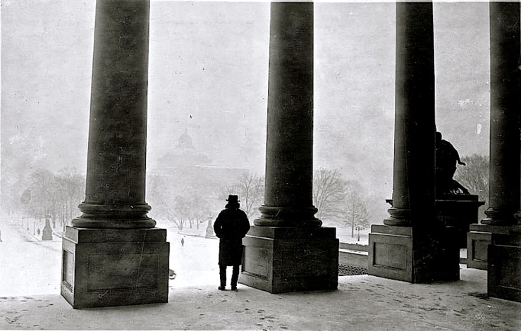 Vintage landscape:enclos*ure - from Capitol steps to Library of Congress, 1923, via Library of Congress