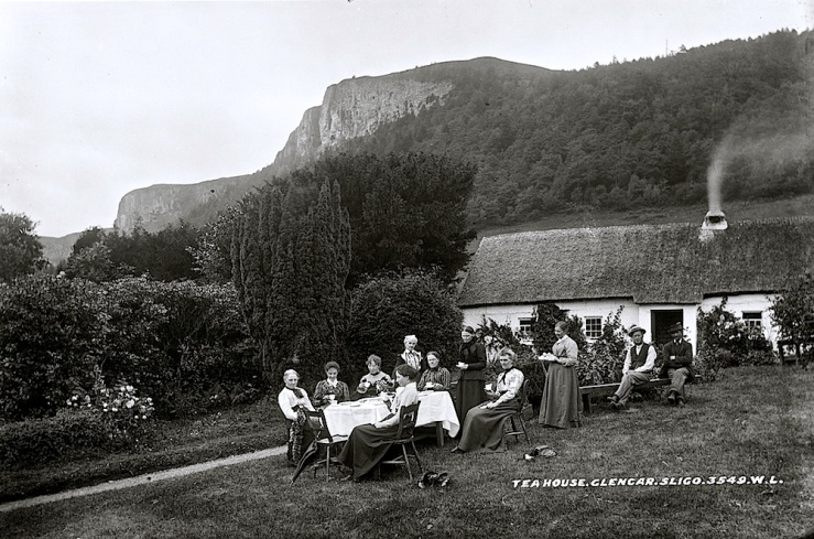 Glencar Tea House, c. 1890, Nat'l. Library of Ireland Commons on flickr