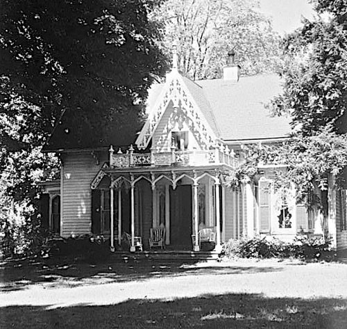 Gothic Revival hse. in Ohio, via Library of Congress