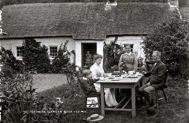 Tea House in Leitrim, Ireland via Nat'l. Library of Ireland, flickr Commons
