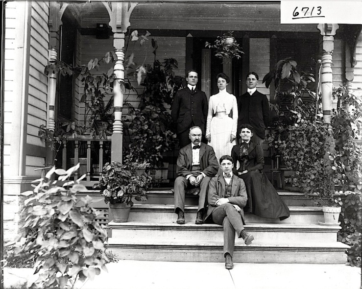 The Flower family, probably in Ohio, ca. 1905, via Miami University Libraries Commons on flickr
