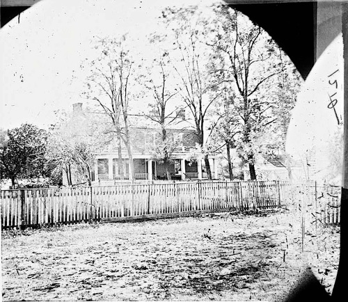The Sunday porch/enclos*ure: McLean house, Appomattox, VA, April 1865, via Library of Congress