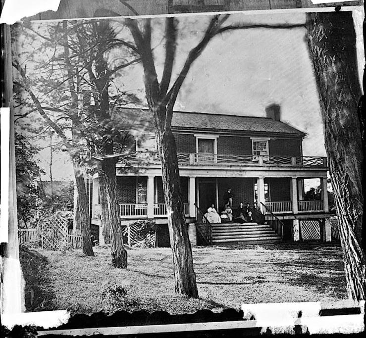 The Sunday porch/enclos*ure: McLean house, Appomattox, VA, April 1865, via Library of Congress