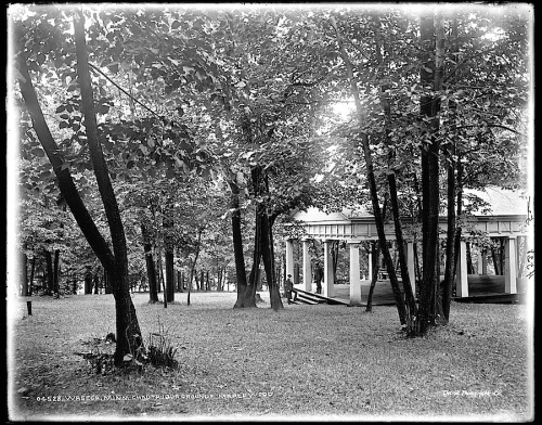 The Sunday porch/enclos*ure: Maplewood Camp, Waseca, Minn., c. 1900, Library of Congress