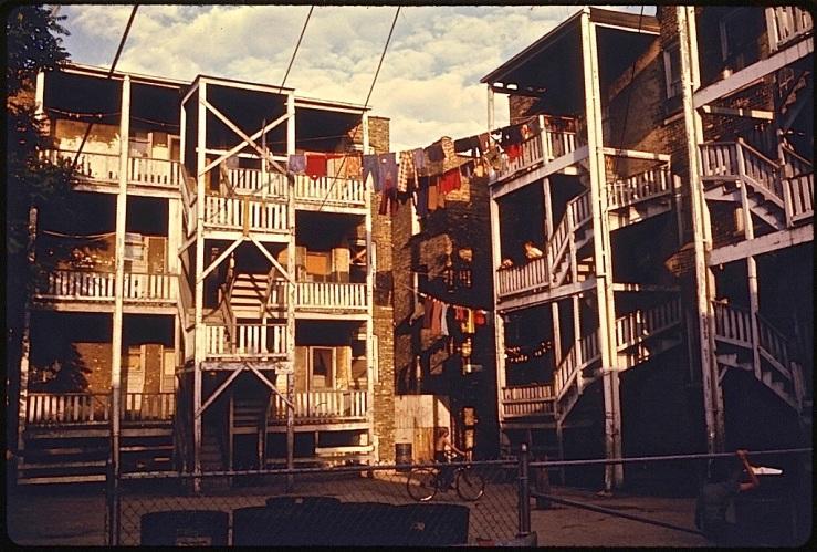 Chicago porches, 1974, via Natl. Archives