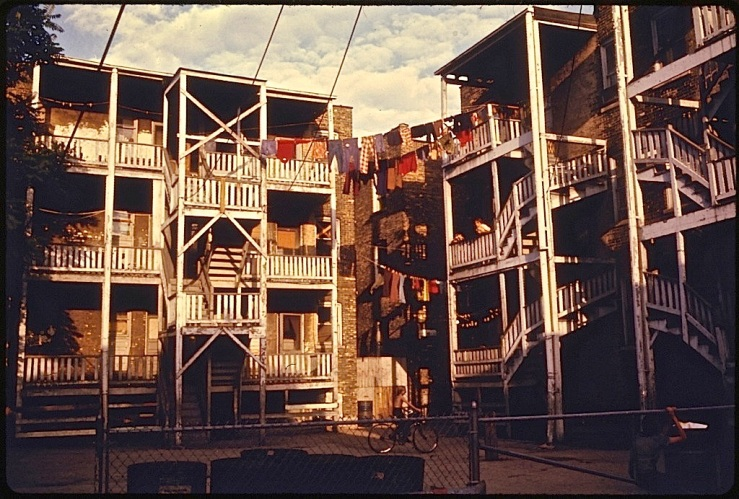 Chicago porches, 1974, via Natl. Archives