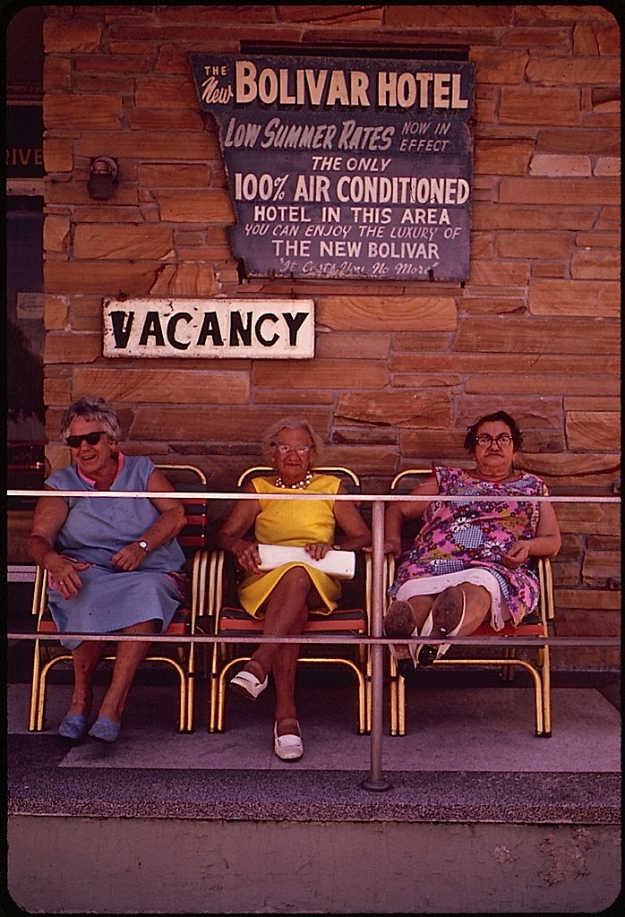 South Beach porch, 1973, via Natl. Archives