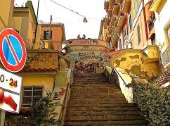 Steps in the Petraio neighborhood of Naples.
