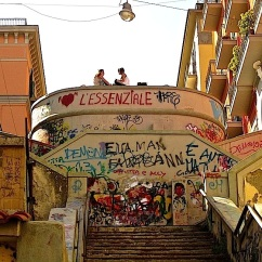 enclos*ure- steps in Petraio neighborhood of Naples