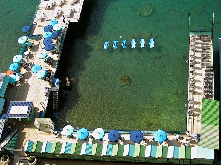 A swimming area along the Sorrento waterfront.