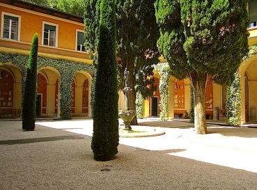 The building's courtyard seemed a distillation of romantic Italy.
