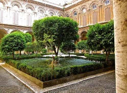 The entrance courtyard of Palazzo Doria Pamphilj.