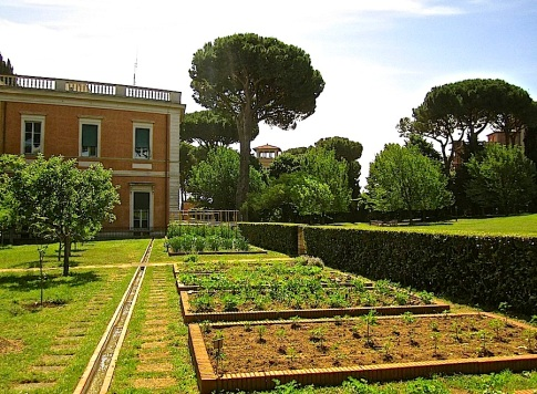 The vegetable garden was designed with the help of chef Alice Waters.