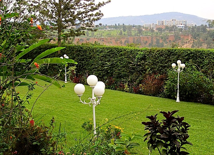 enclos*ure: our Kigali garden, Fall 2011 - lower lawn