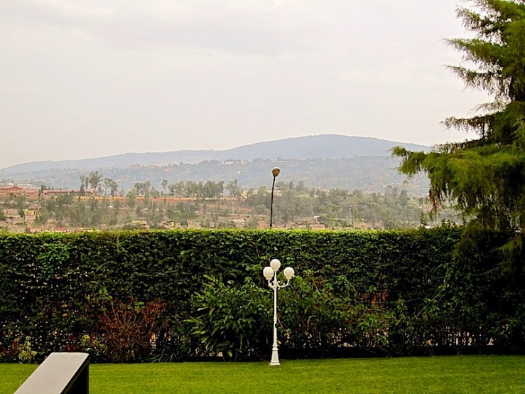 enclos*ure: our Kigali garden, late 2011 - lower lawn