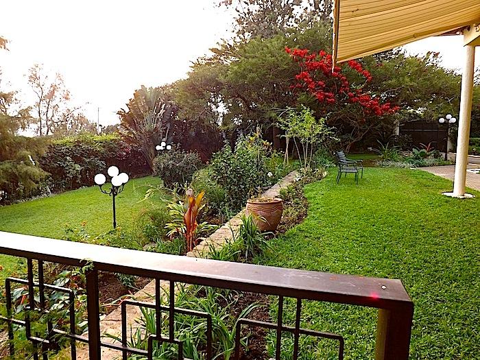 enclos*ure: our Kigali garden, summer 2012 - upper lawn