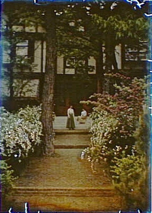 genthe autochrome, steps, via LoC