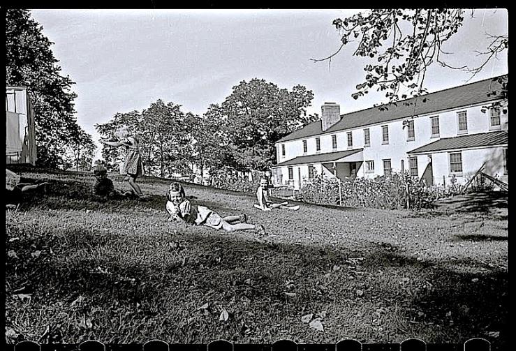Children on grass, Greendale, WI