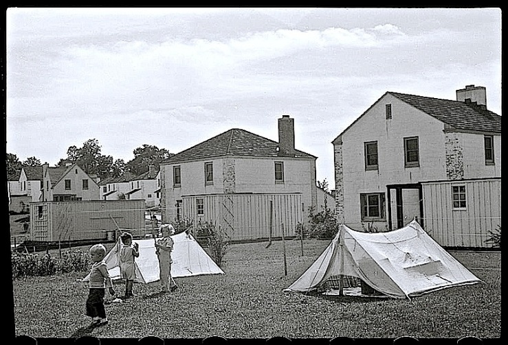 Children with tents, Greendale, WI