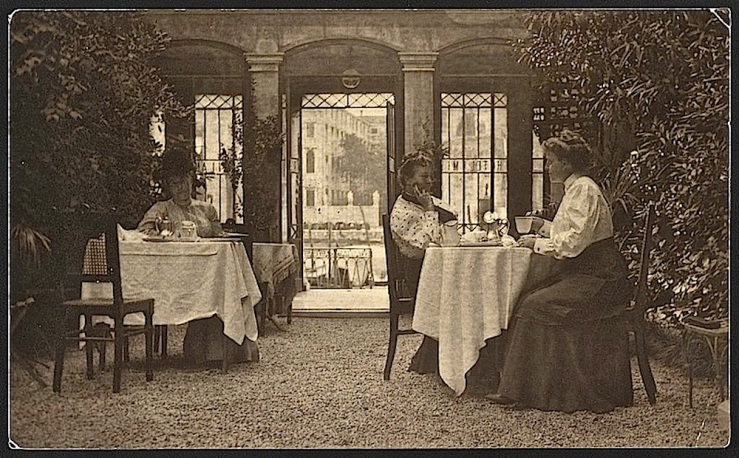 Venice hotel patio, Library of Congress