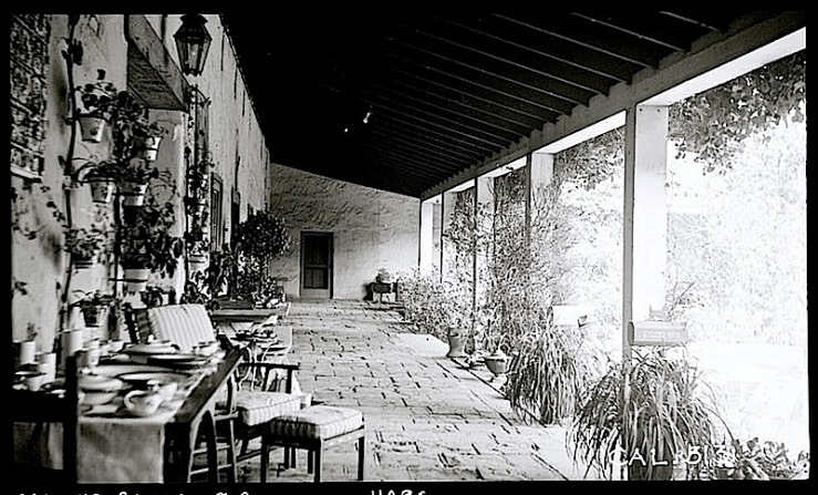 The Sunday porch:enclos*ure- Casa de la Guerra, Calf., 1936, HABS