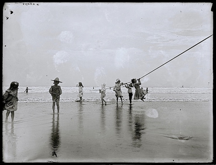 beach rope, c. 1900, library of congress