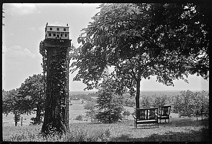 Farmhouse birdhouse, via Library of Congress