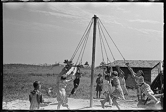 Maypole swing, R. Lee, via Library of Congress