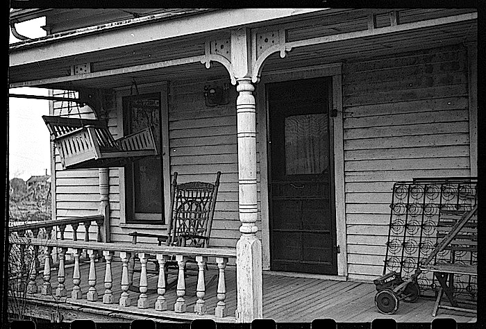 Winter prep 2, Kansas porch, J. Vachon, LoC