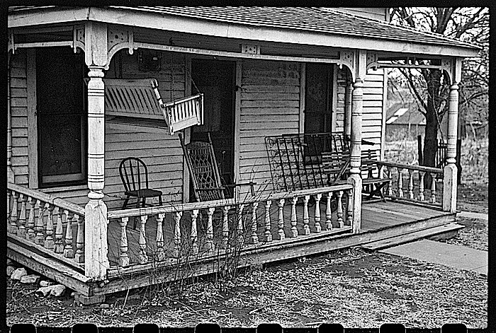 Winter prep, Kansas porch, J. Vachon, LoC