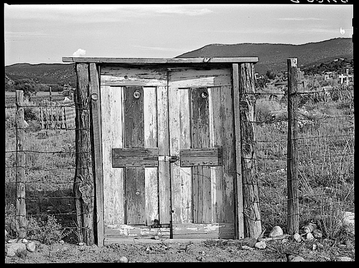 Cemetary gate, New Mexico, Library of Congress
