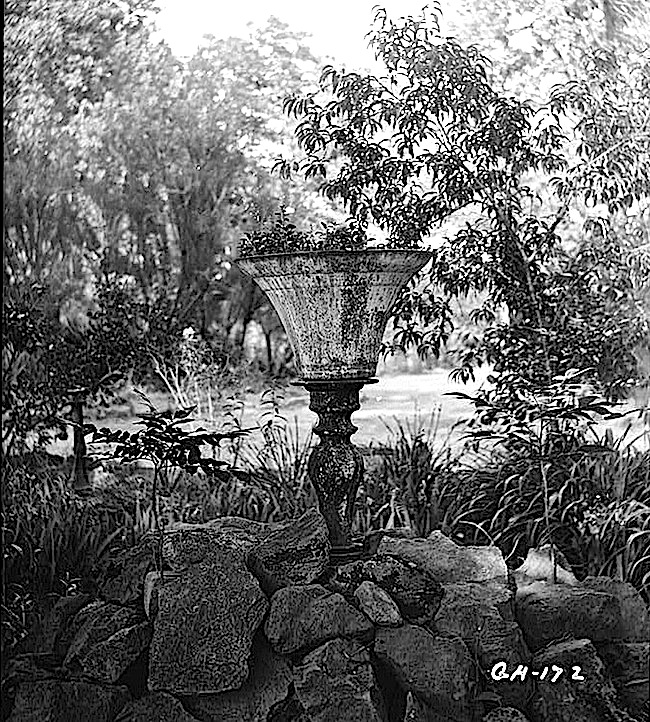 Old bell as flowerpot, Georgia, HABS, LoC