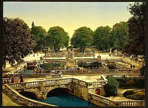 Garden of the Fountains, Nîmes, France]
