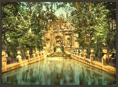 Medici Fountain, ca. 1900, Library of Congress