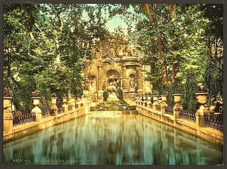 Medici Fountain, ca. 1900, Library of Congress