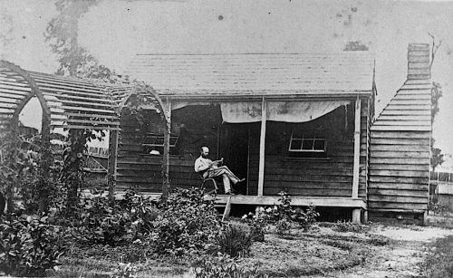 The Sunday porch/enclos*ure: Gympie porch, ca. 1871, State Library of Queensland