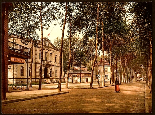 Hotel de ville, posts and telegraphs, Vichy, France