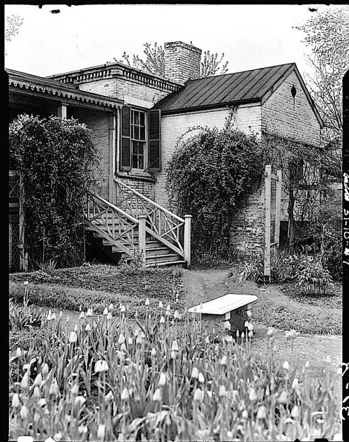 probably 1934-The Sunday porch:enclos*ure-  J. B. Valle Hse, Mo., HABS, Library of Congress