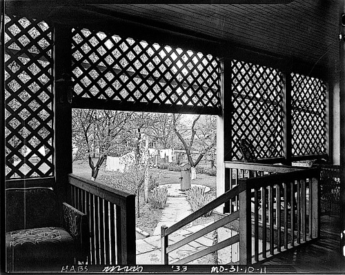 The Sunday porch:enclos*ure- 1934 J. B. Valle Hse, Mo., N.W. view, HABS, Library of Congress