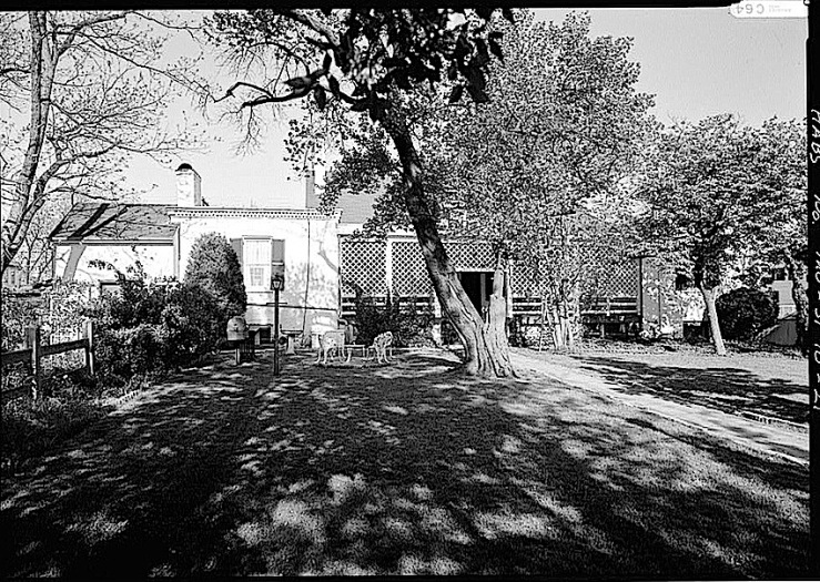 West side, 1985-The Sunday porch:enclos*ure-  J. B. Valle Hse, Mo., HABS, Library of Congress