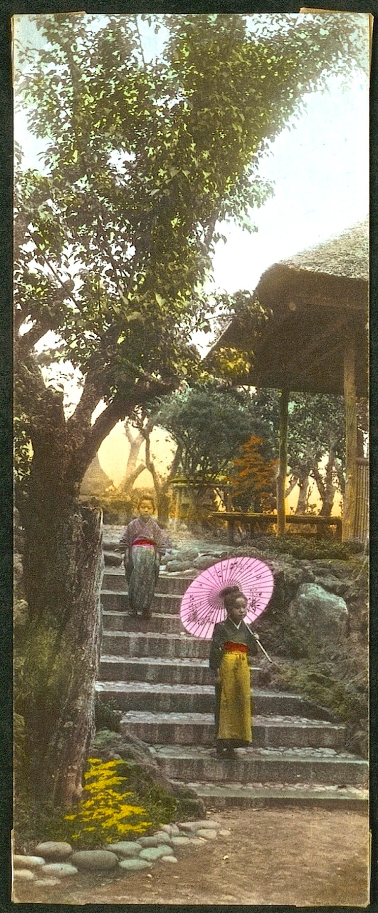 Steps in a Japanese garden, ca. 1900, Natl. Museum of Denmark
