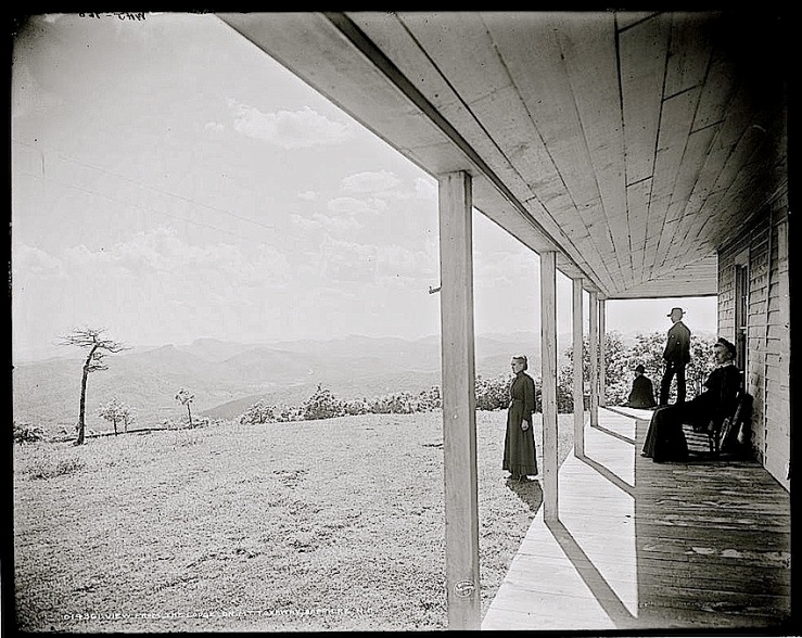 2 The Sunday porch:enclos*ure -- Lake Toxaway, c. 1902, Library of Congress
