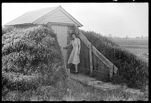 Food storage, 1940, Wabash Farms, Library of Congress