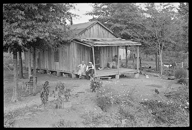 Sharecropper's house, Dyess Colony, Arkansas, 1935, Library of Congress