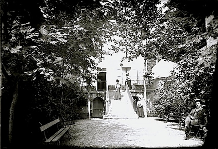 1906 garden with steps in France, Bibliotheque Toulouse