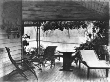"""Verandah at 'Fairseal,' the residence of W.C. Hume at Torwood, Brisbane, 1890."""