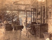 """Verandah at The Hollow, near Mackay, Queensland, about 1875."""