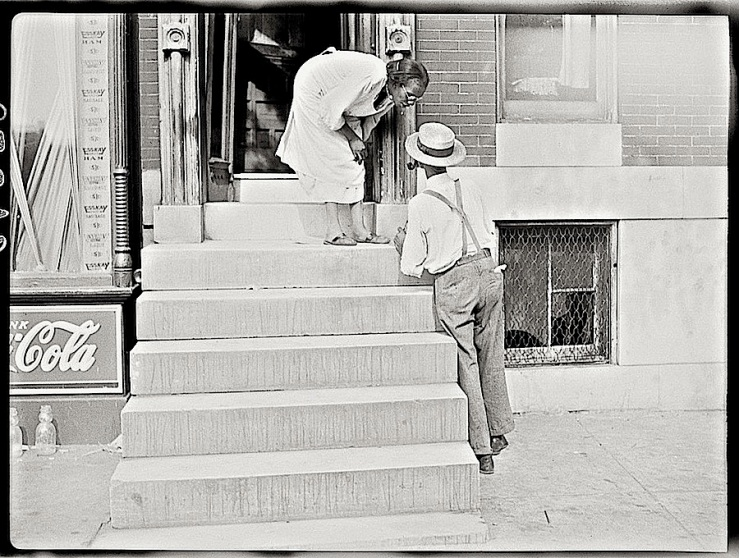 Baltimore stoop, J. Vachon, Library of Congress