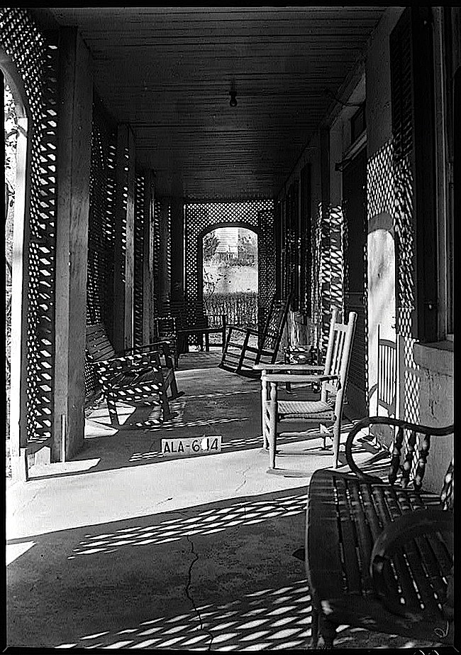 Lattice on 1935 Ala. porch, Library of  Congress